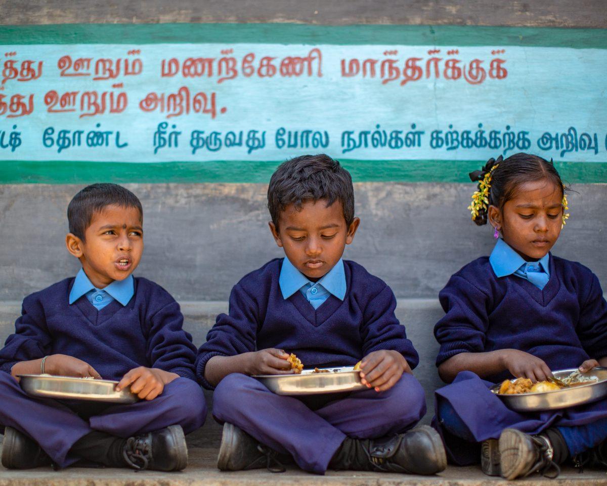 Repas scolaire à l'école de la plantation Welbeck