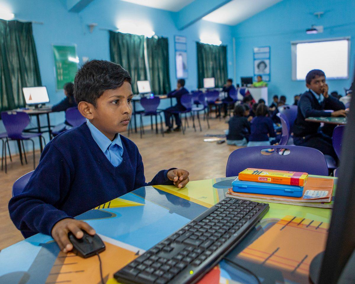 Salle informatique à Chamraj