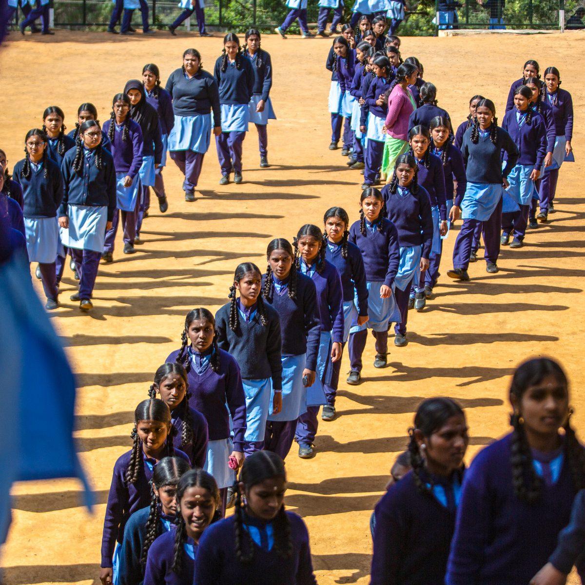 Réunion d'élèves à l'Ecole Sivasailam