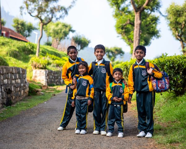 Pupils wearing Premium funded uniforms