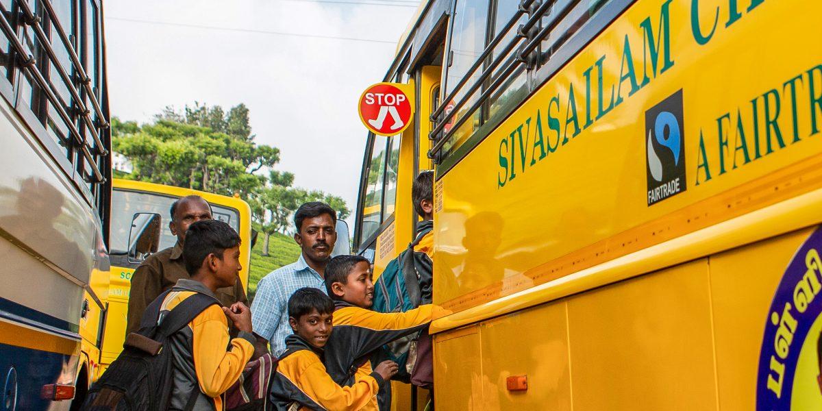 Bus scolaire financé par la prime équitable